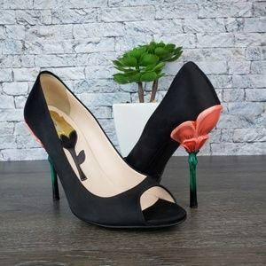 Prada Fairy Collection Sculpted Flower Heel